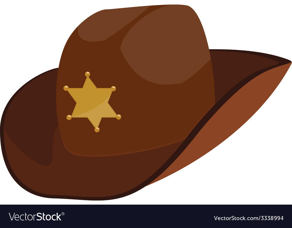 bf5051f6d6ace Brown sheriff hat Royalty Free Vector Image - VectorStock