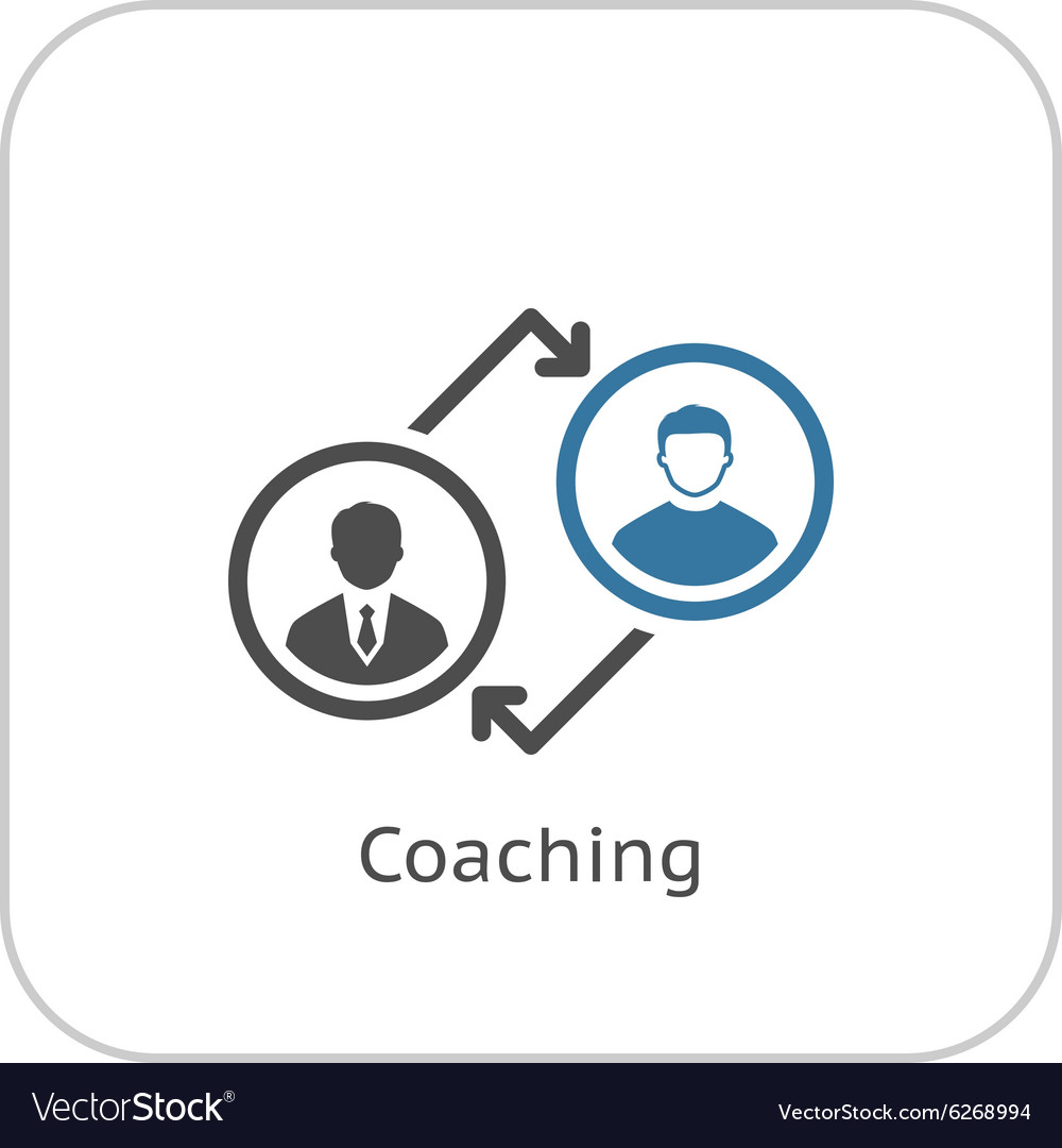 coaching icon business concept flat design vector image