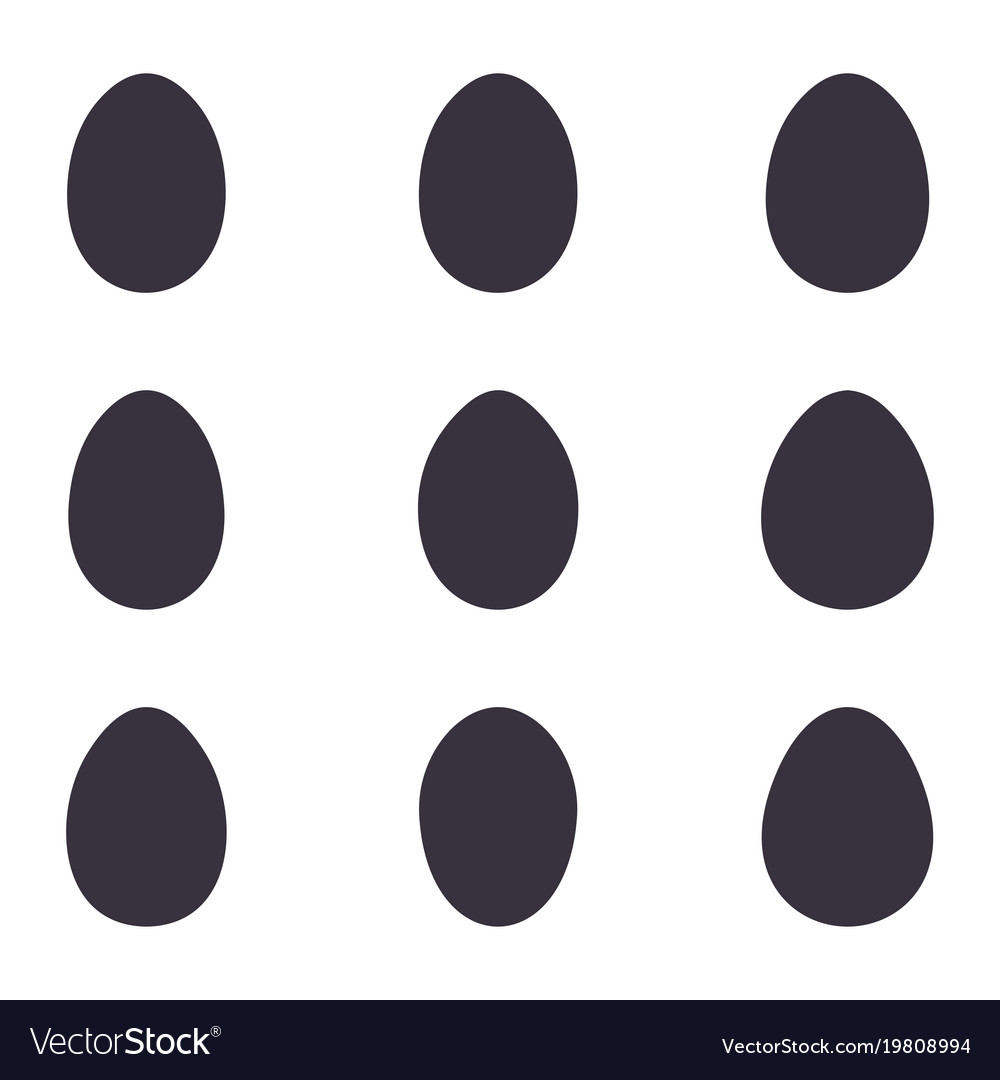 Easter black eggs set vector image