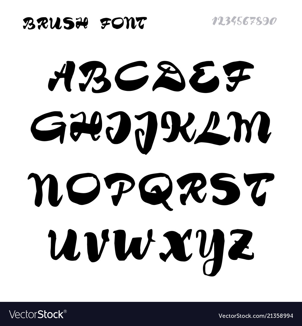 Font - handwriting brush it can be used to create