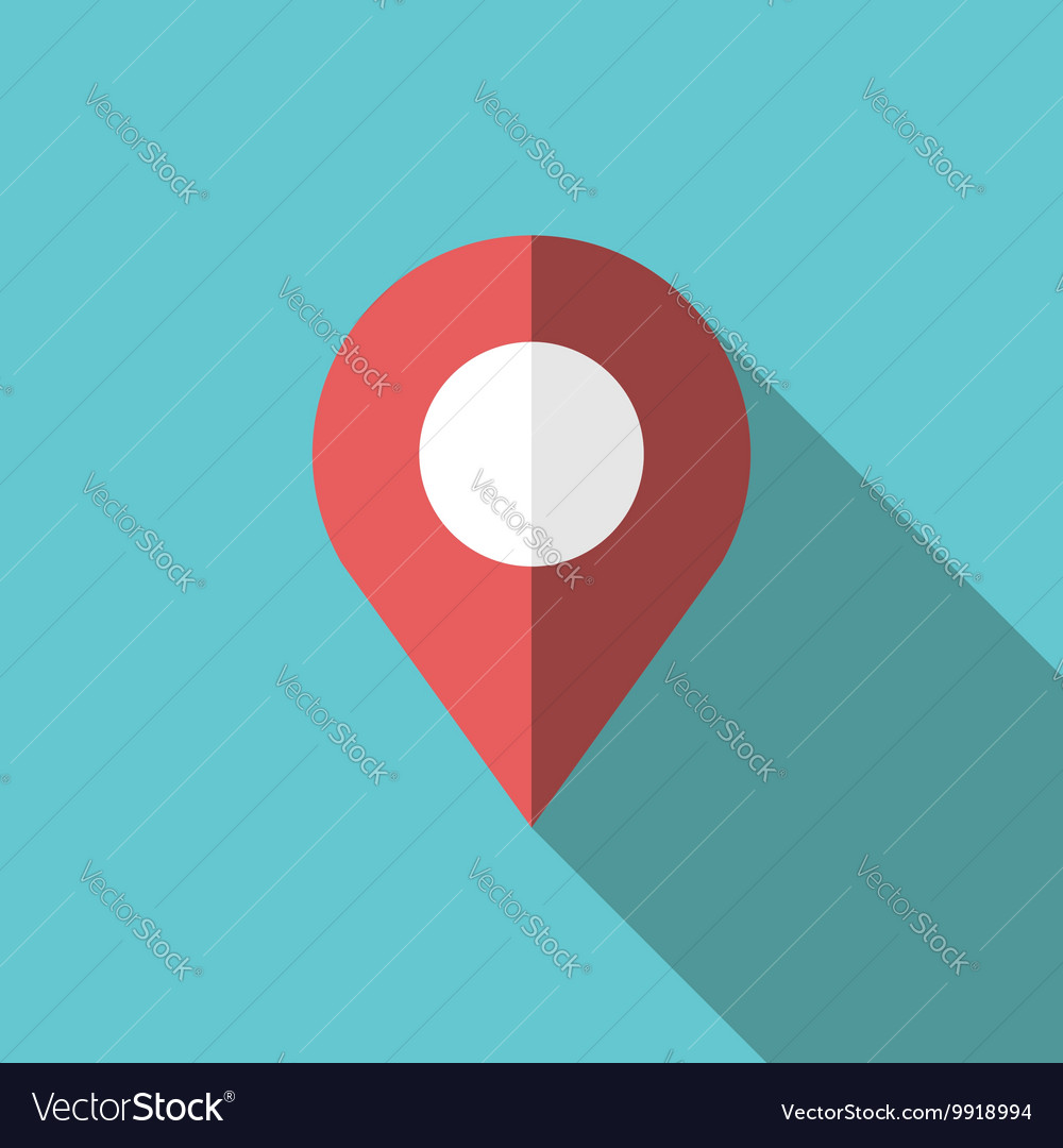 GPS location map pointer