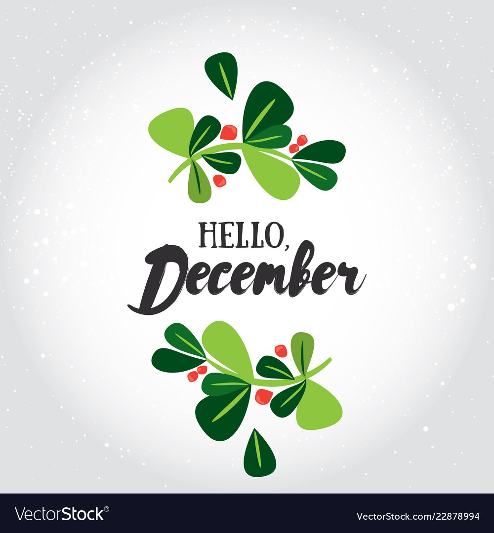 Hello december greeting card