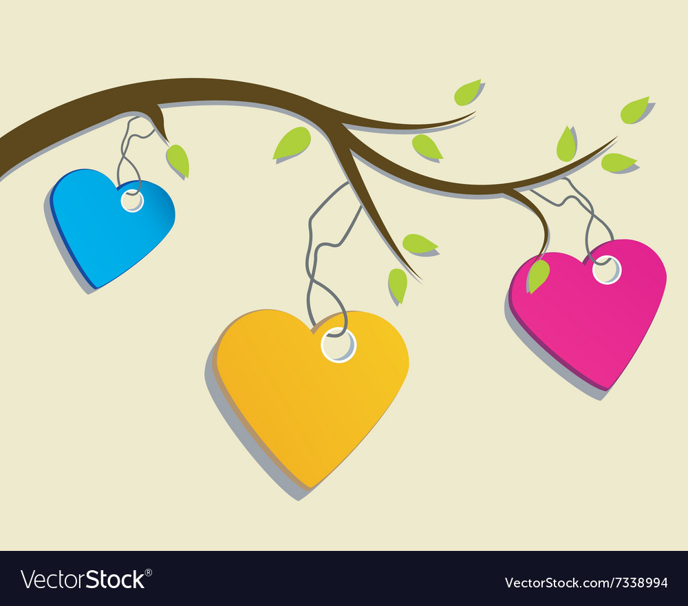 St Valentines day greeting card with hearts