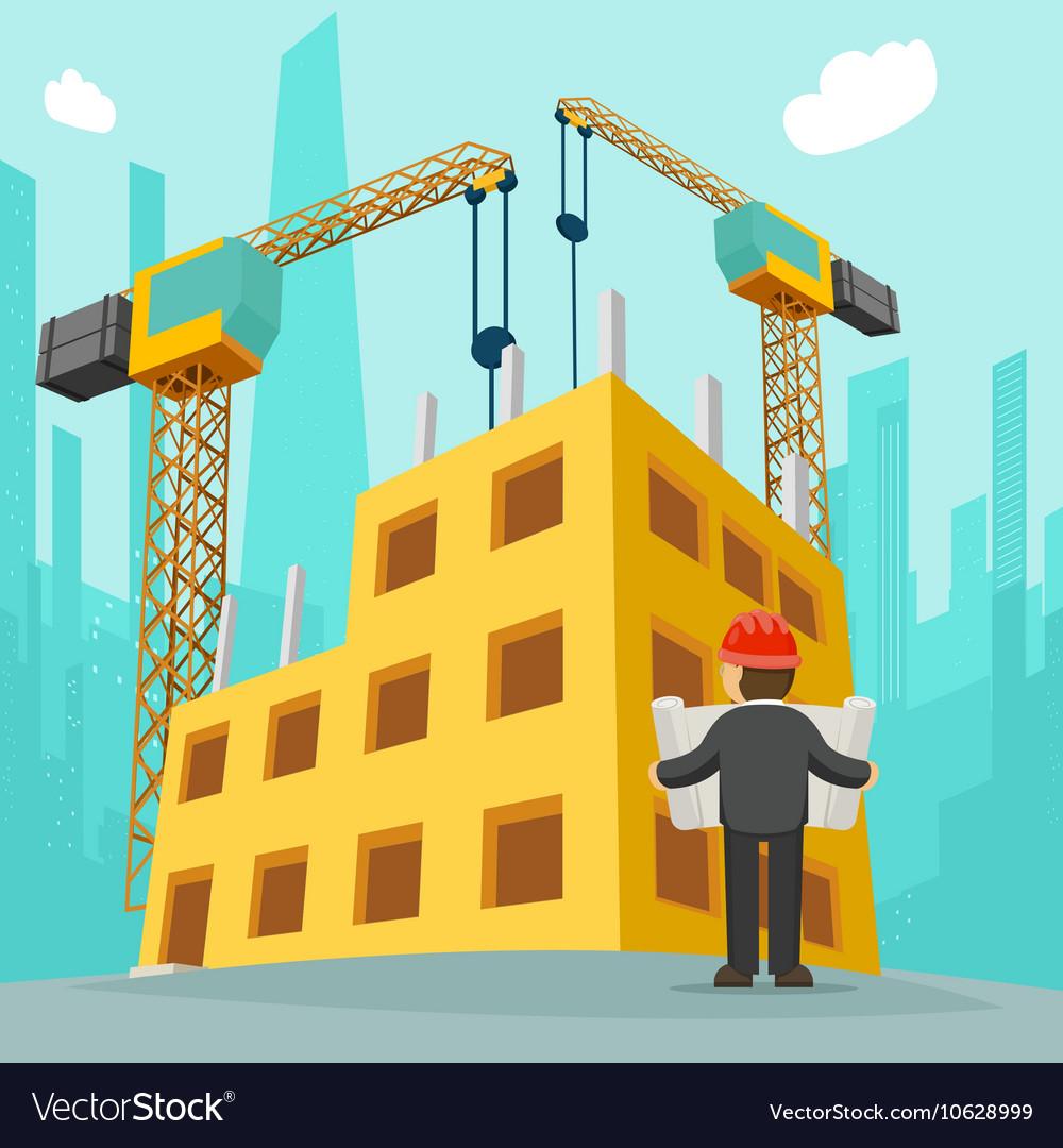 Building Construction Cartoon Royalty Free Vector Image
