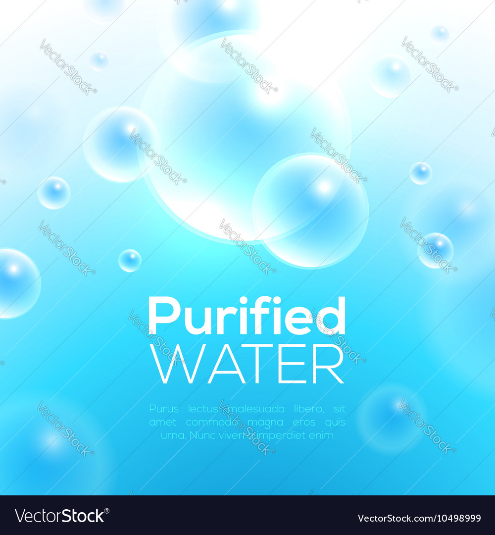 Clean Purified Water Background
