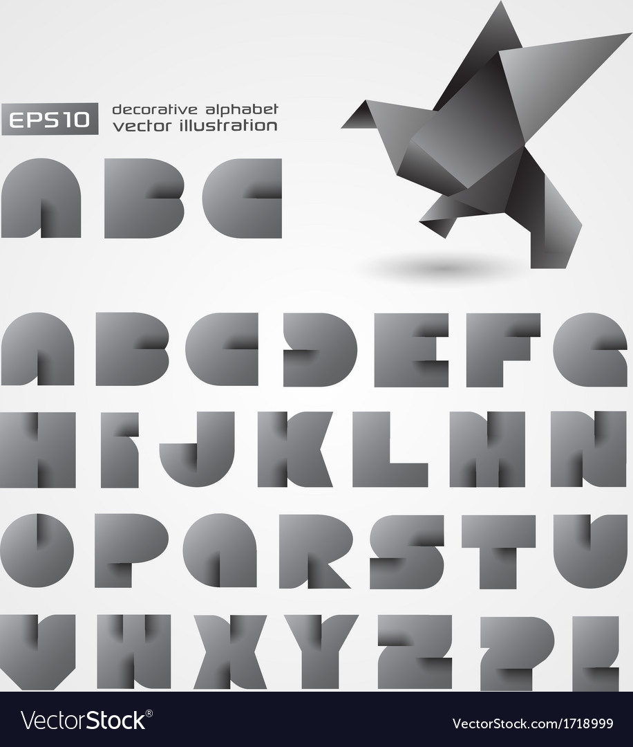 Decorative Alphabet With Origami Object