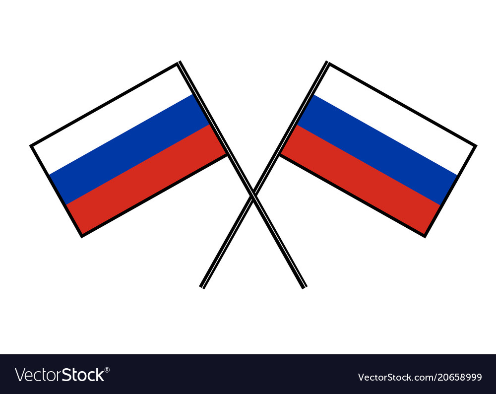 Flag of russia stylization of national banner