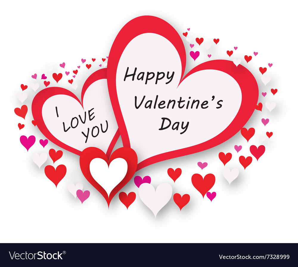 Happy Valentine Card Royalty Free Vector Image