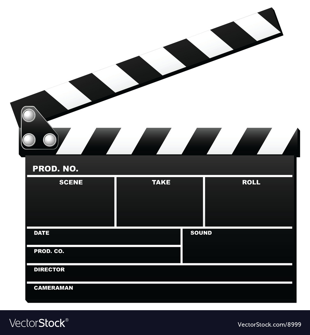 Opened clapboard vector image