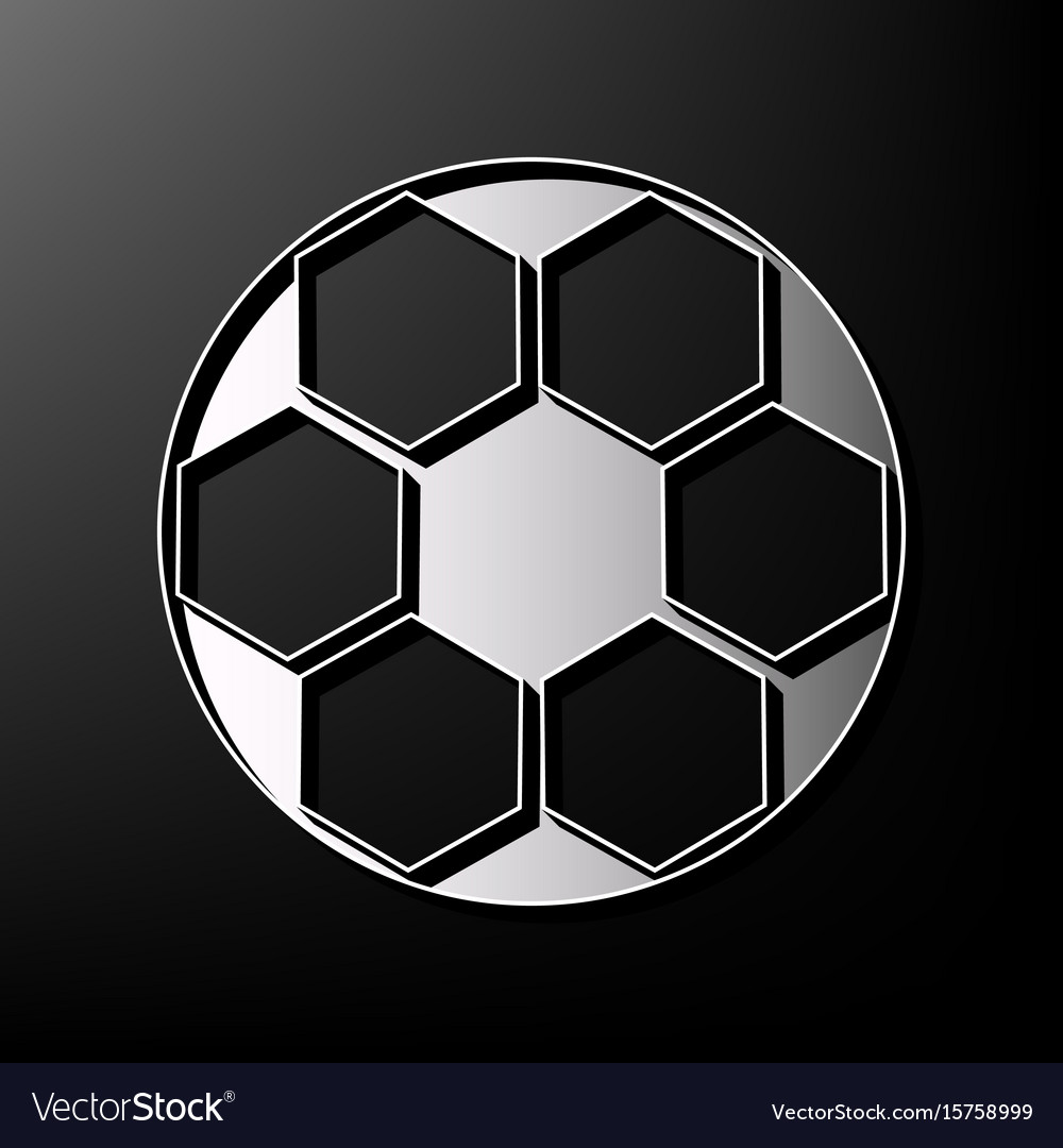 Soccer ball sign gray 3d printed icon on