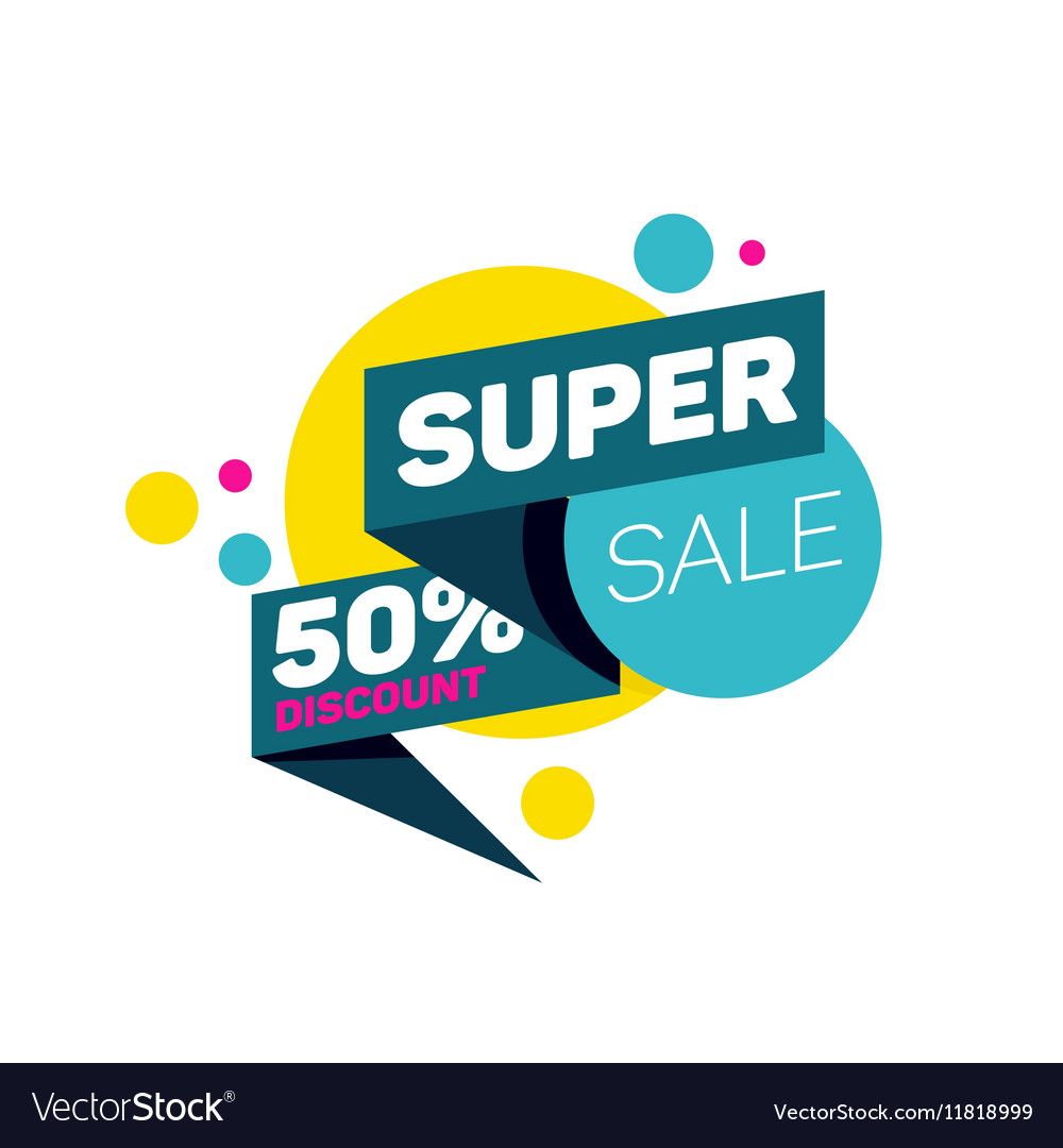 Special offer super sale tag discount banner