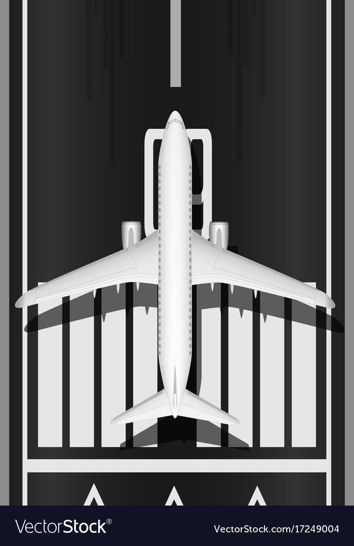A modern jet passenger white plane on the runway