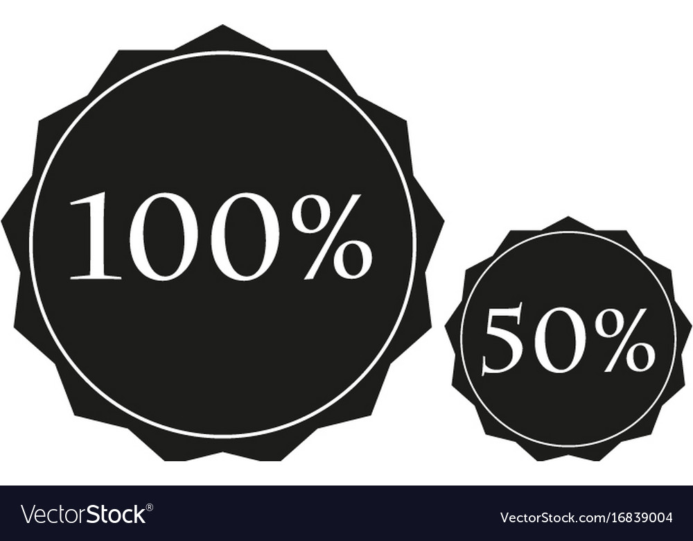 Discounts sign black icon on