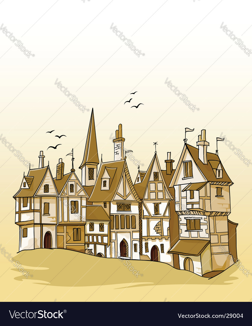 European architecture vector image