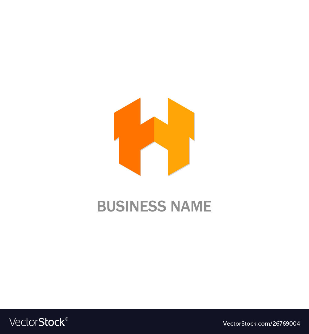 H initial business logo