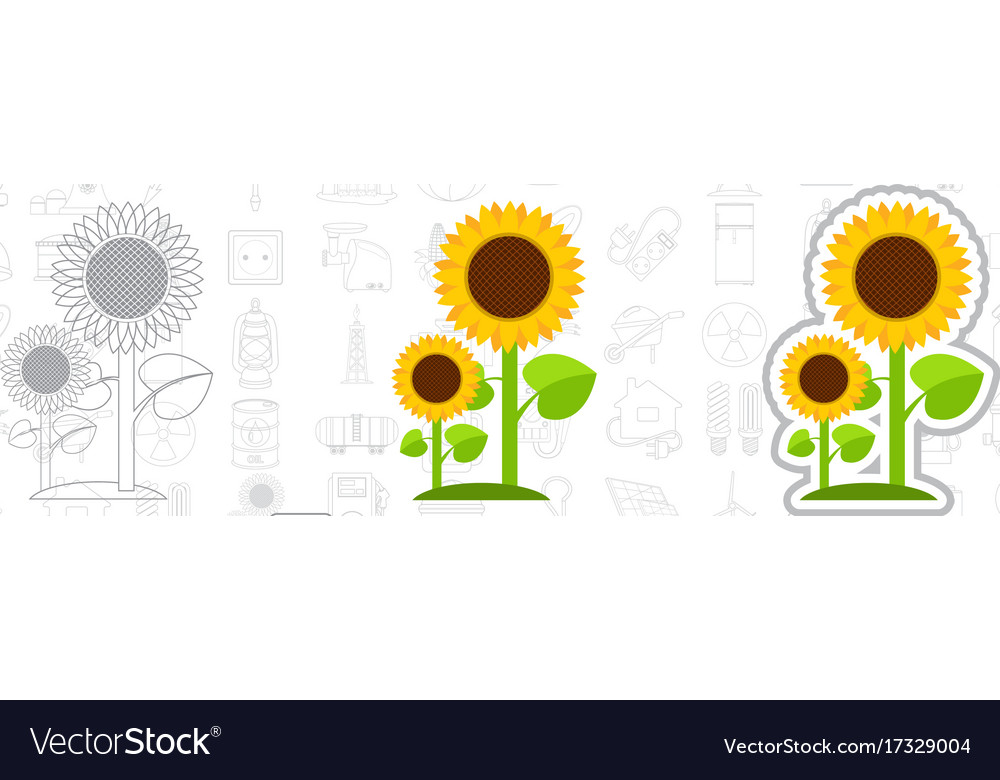 Logo sunflower energy plants