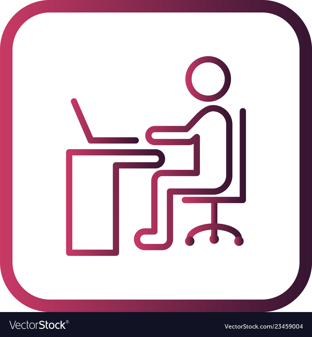 Using laptop icon