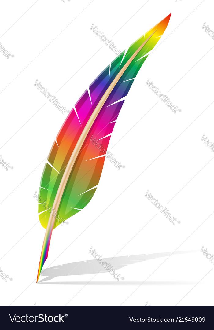 Art creative feather pen concept
