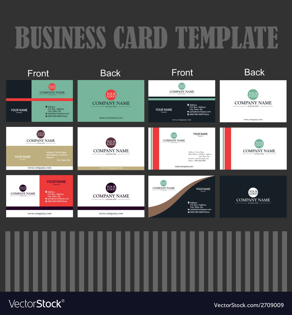 Business Card Template Royalty Free Vector Image
