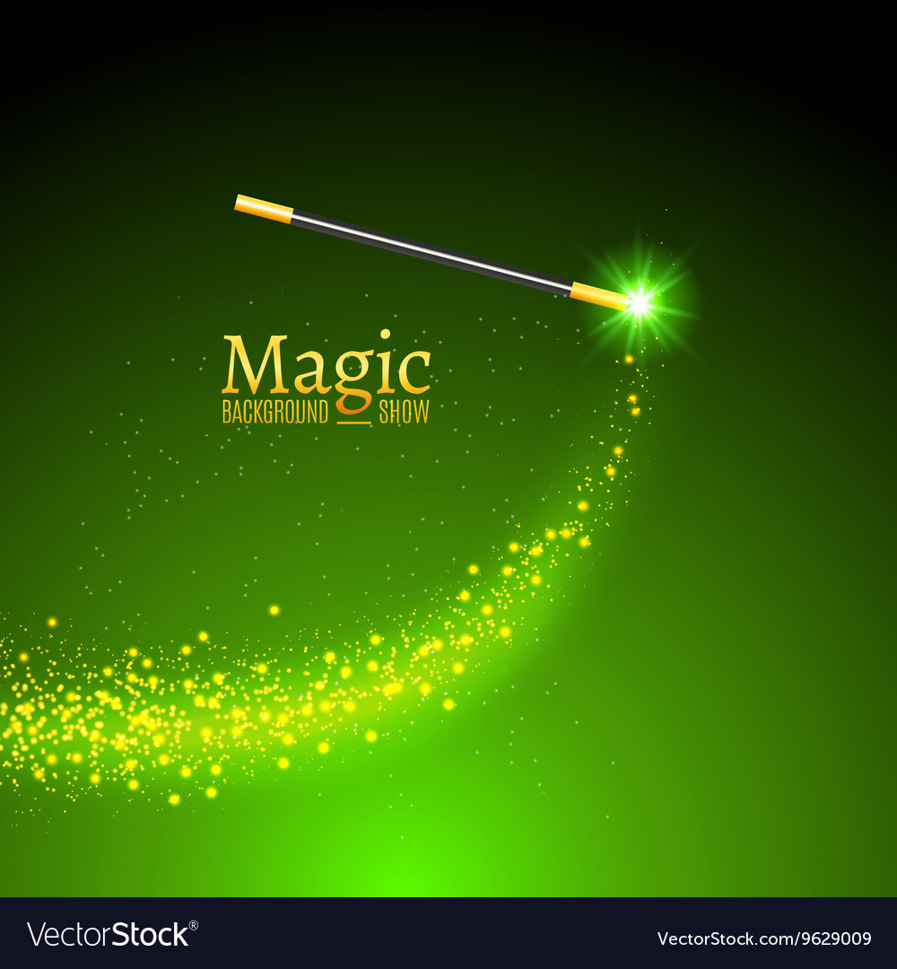 Magic wand background Miracle magician