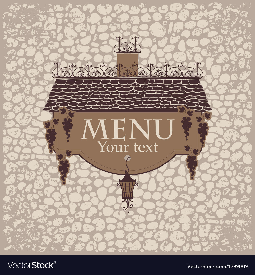Menu with the old roof