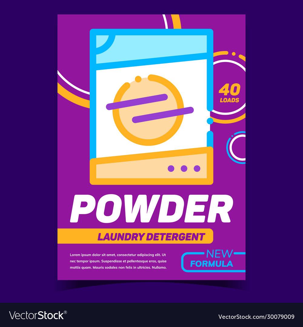 Powder laundry detergent advertising banner