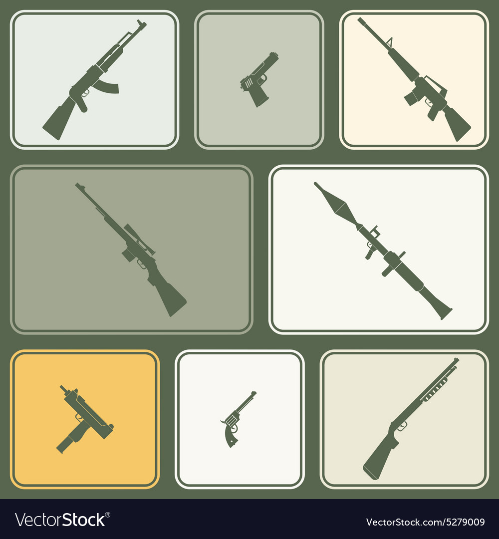 Seamless background with weapons and arms