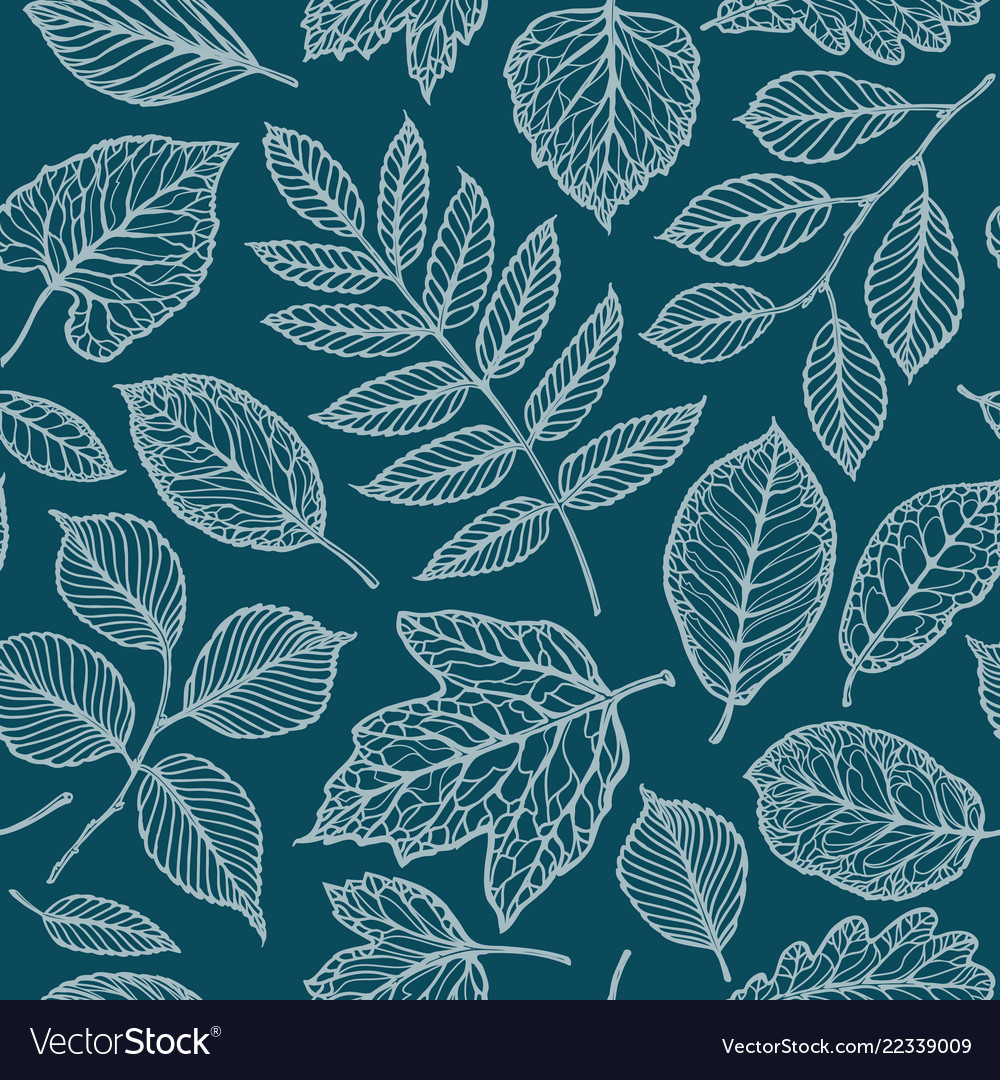 Seamless floral pattern nature leaves backdrop