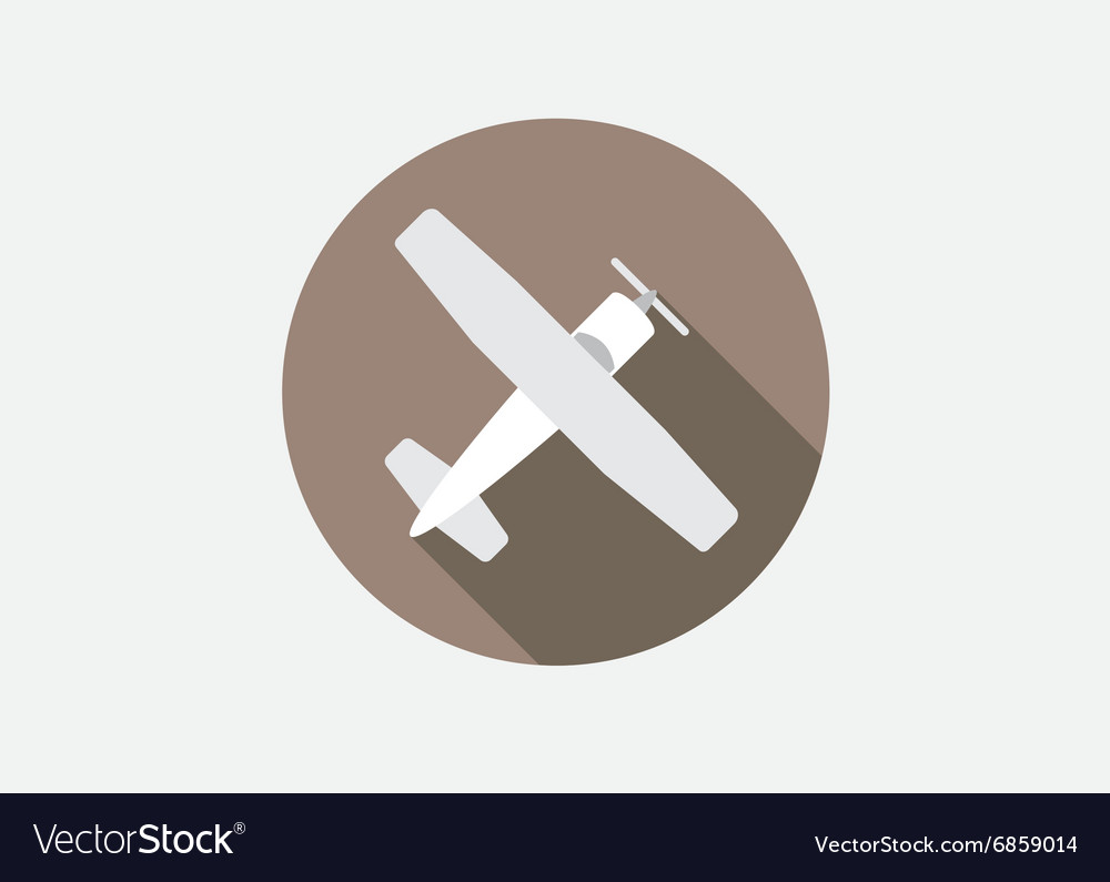 Aircraft or Airplane Icon Flat Minimal Silhouette