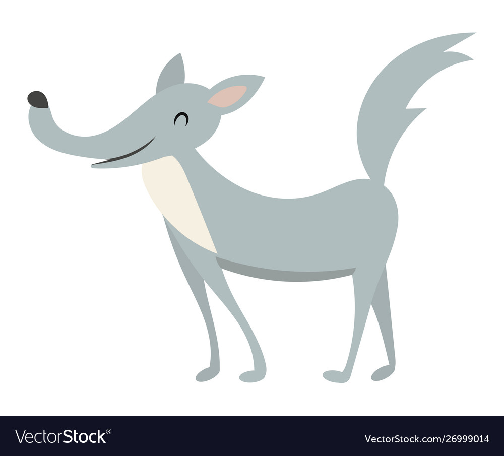 Cartoon wolf a wolf