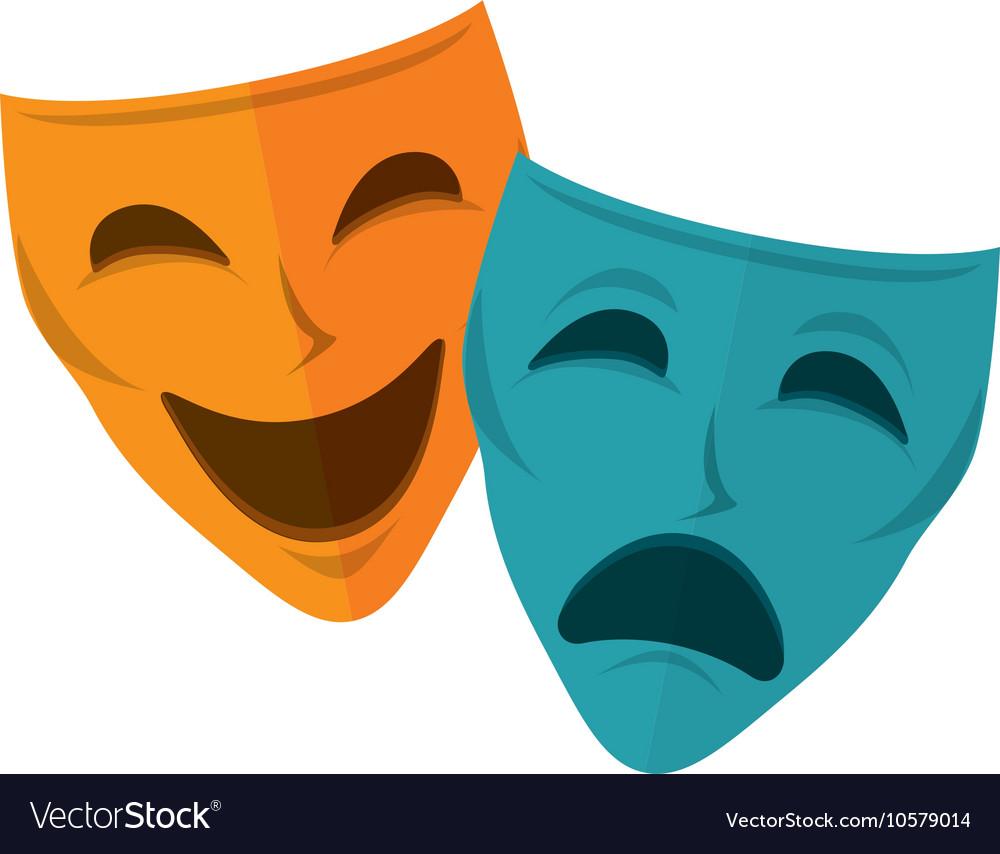 Drama and comedy mask