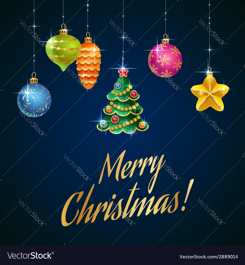 Flash christmas tree blue vector image