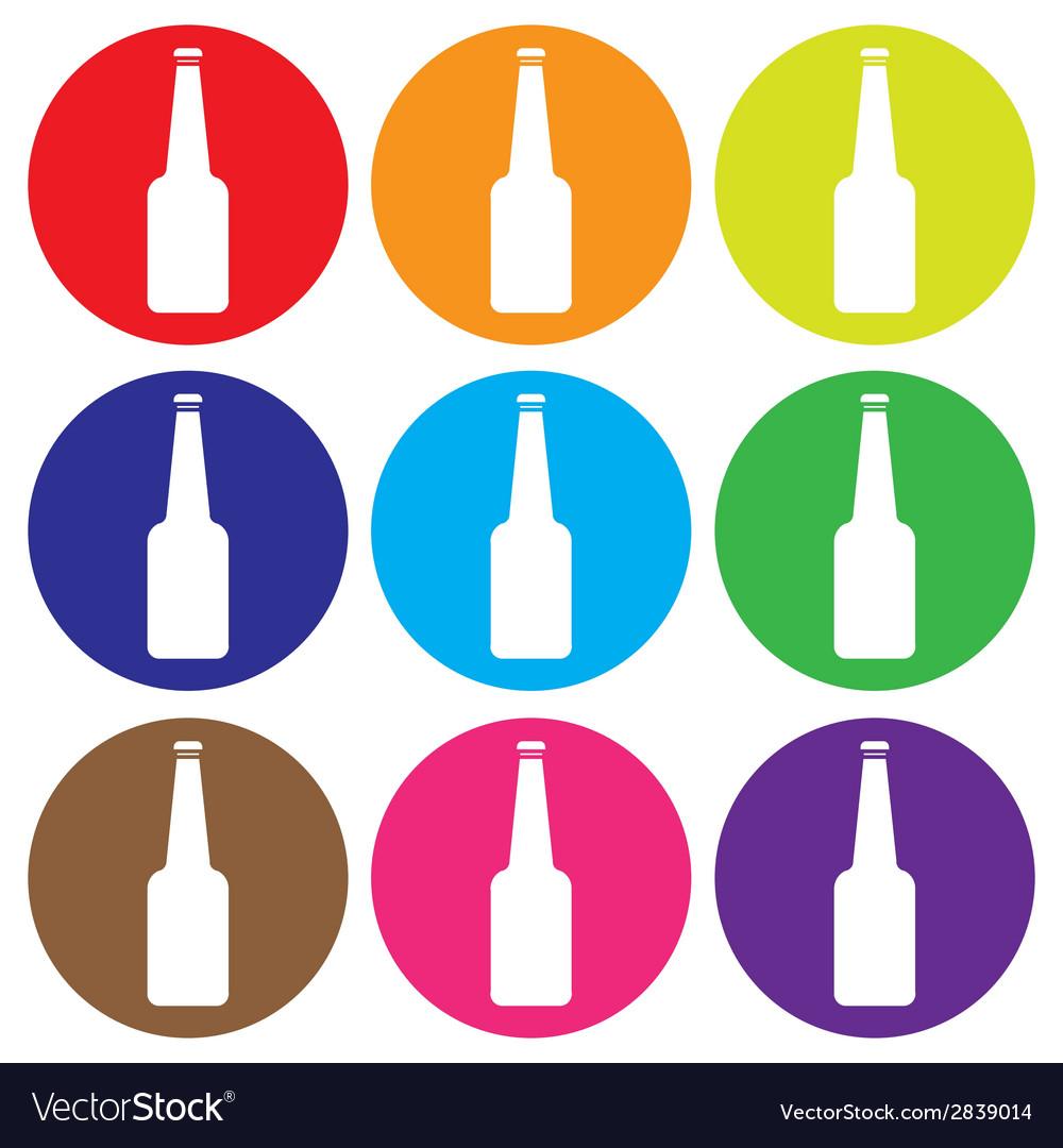 Glass bottle icon set