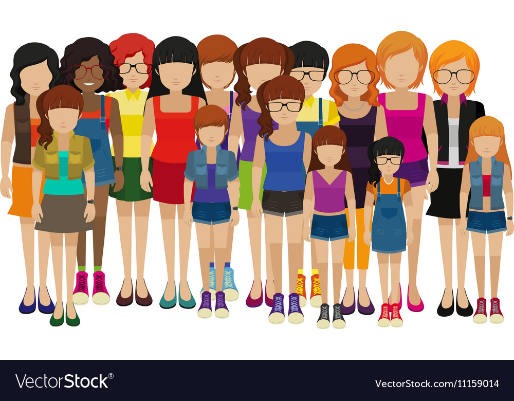 Group of people with different ages vector image