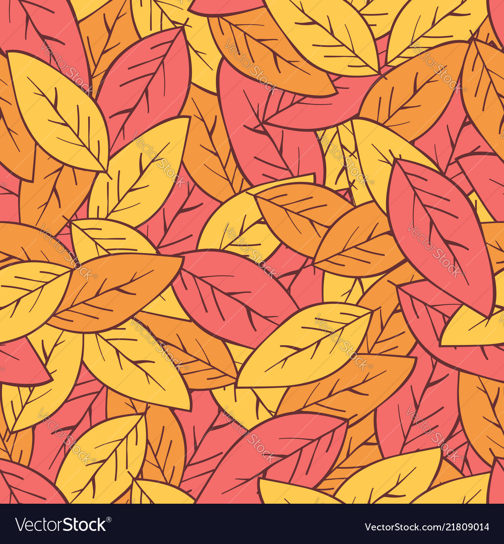 Seamless abstract autumn background with leaves