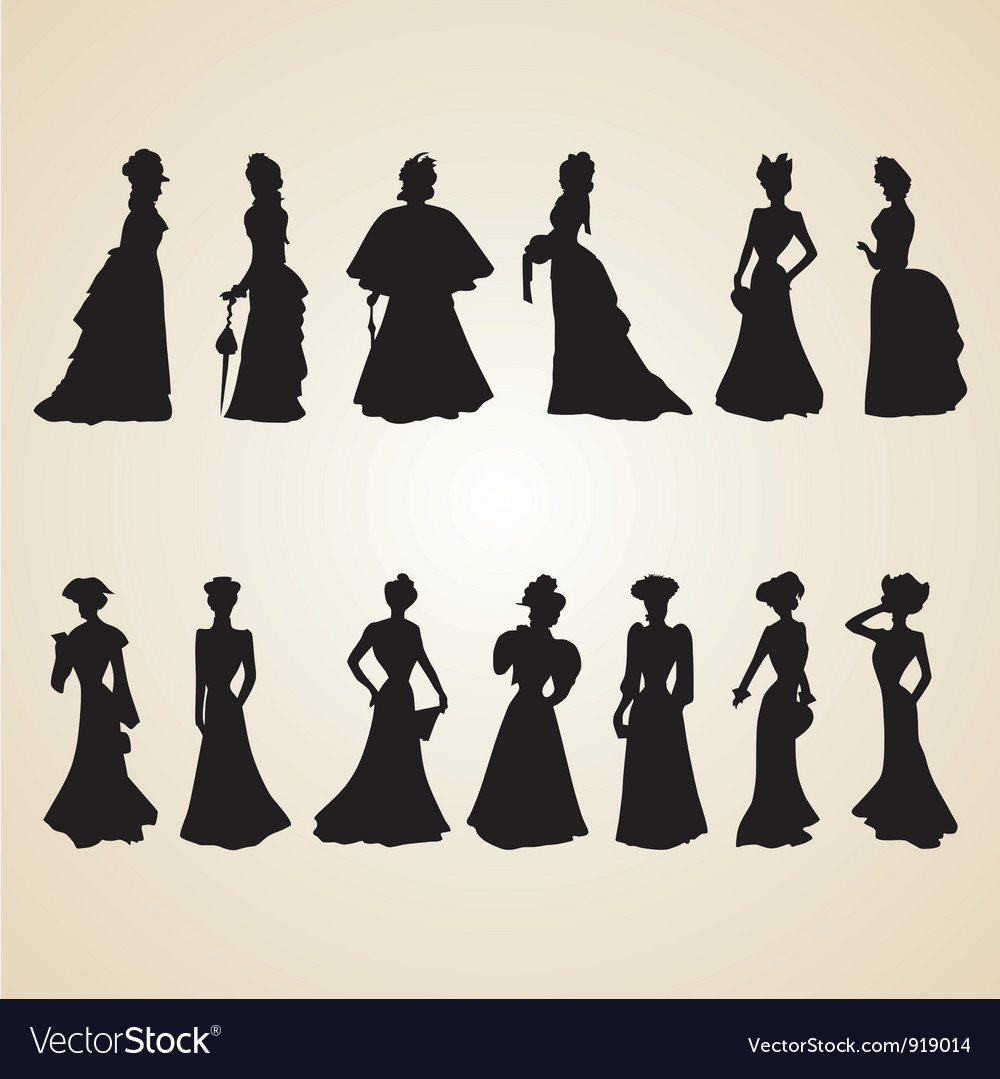 Victorian Women Silhouettes