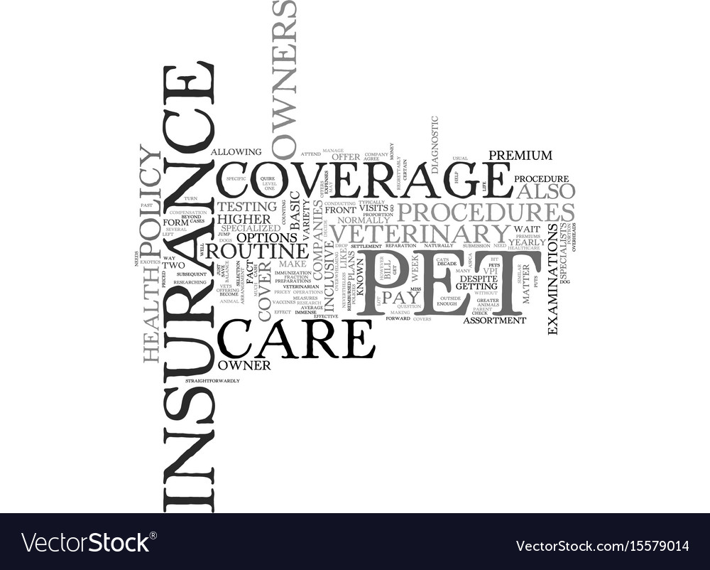 What is pet health insurance text word cloud vector image