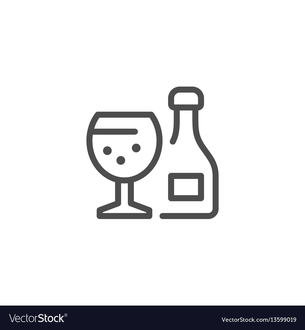 Alcohol line icon vector image