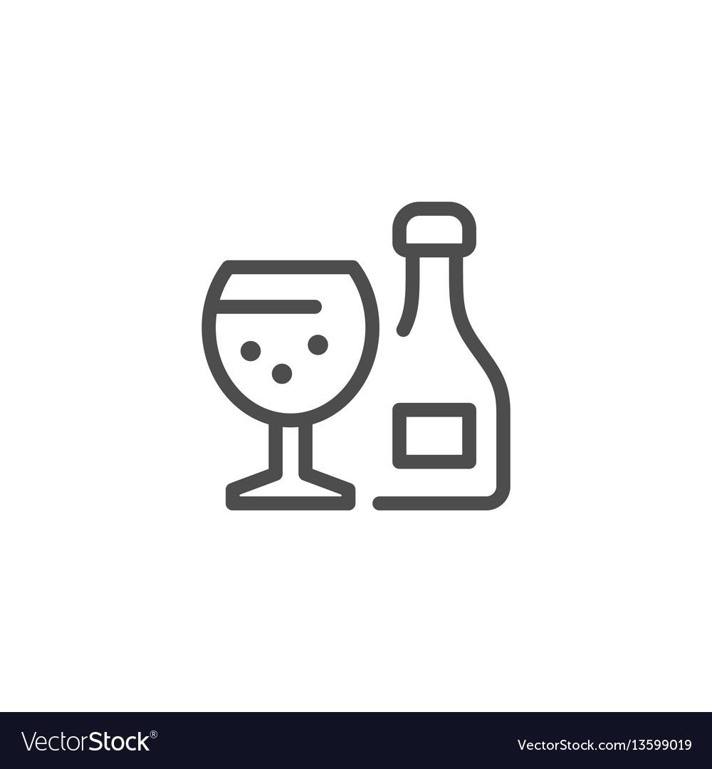 Alcohol line icon