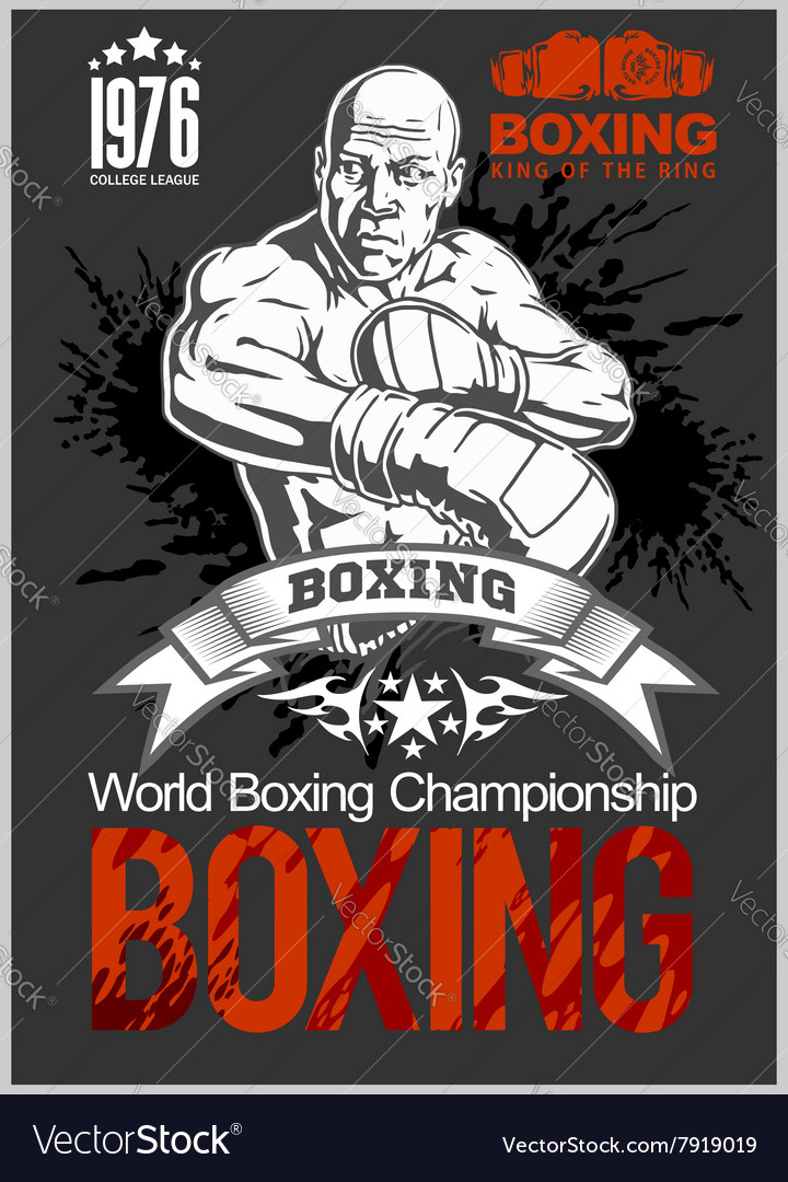 Boxing Club Logo Emblem Label Badge T-Shirt