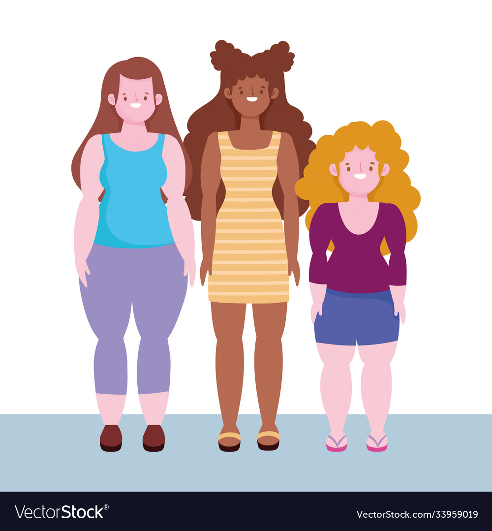 Diversity and inclusion women short tall stature
