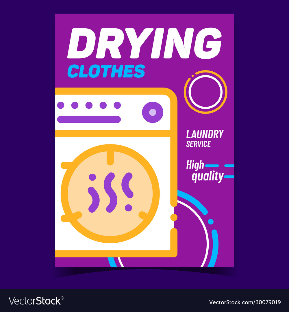Drying clothes creative advertising banner
