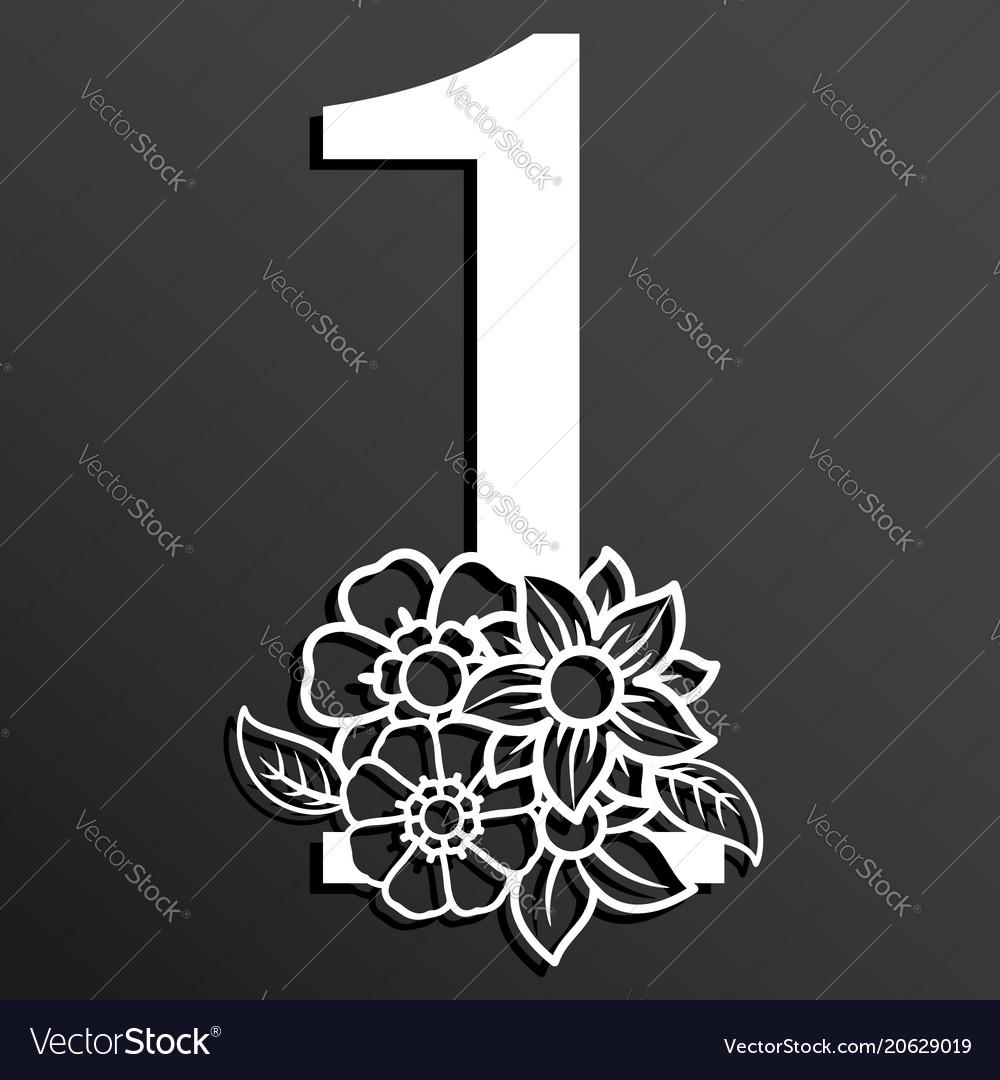 Floral number 1
