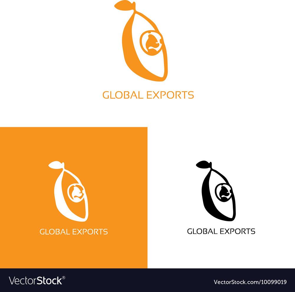 Fresh fruit with globe logo
