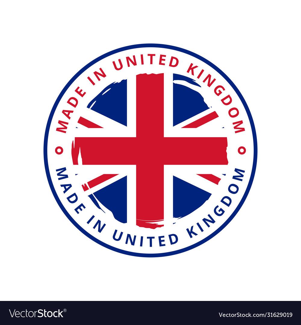 Made in united kingdom round label