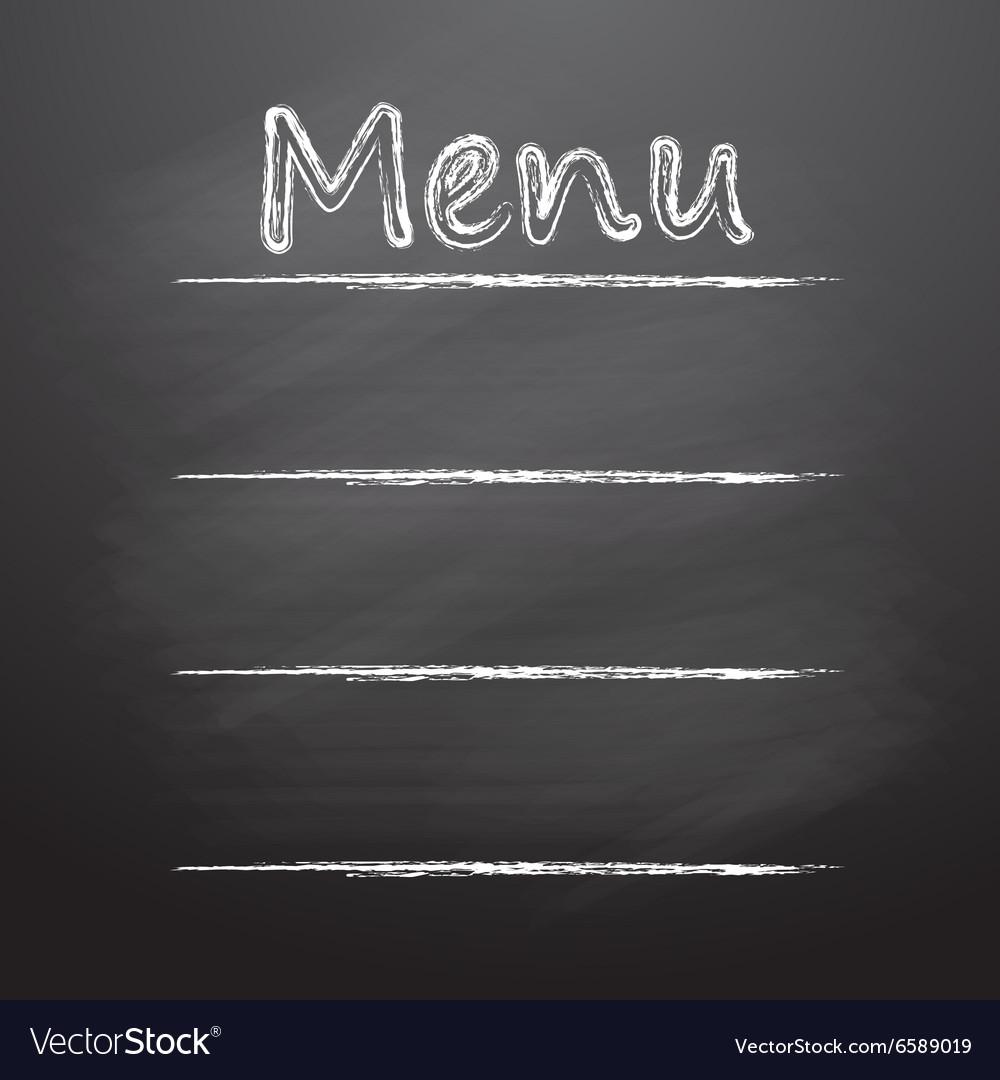 Menu written on a blackboard