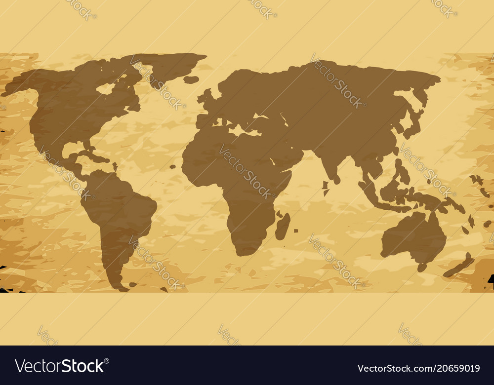 Old world map on parchment Royalty Free Vector Image