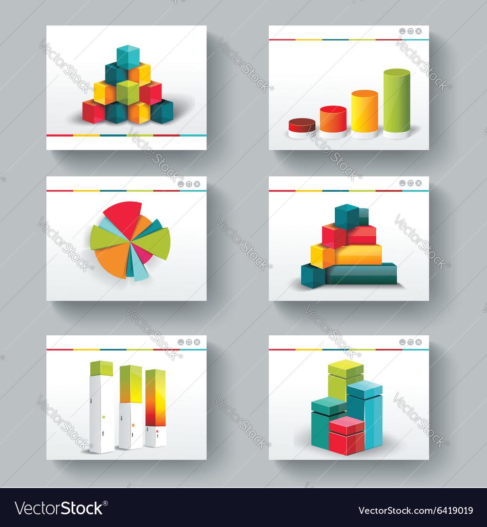 Presentation slide templates for your business vector image
