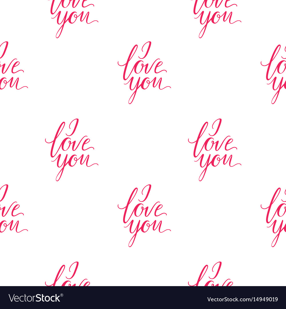 Seamless Wallpaper Romantic Valenine S Day I Love