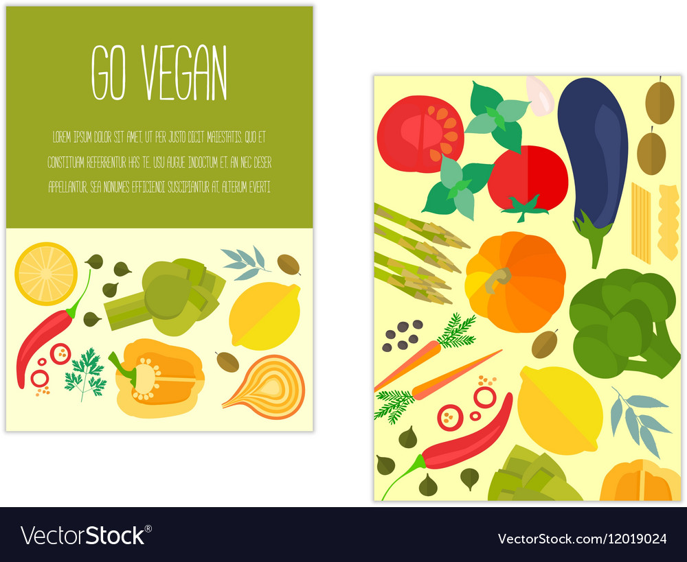Banner with vegetables and text vector image